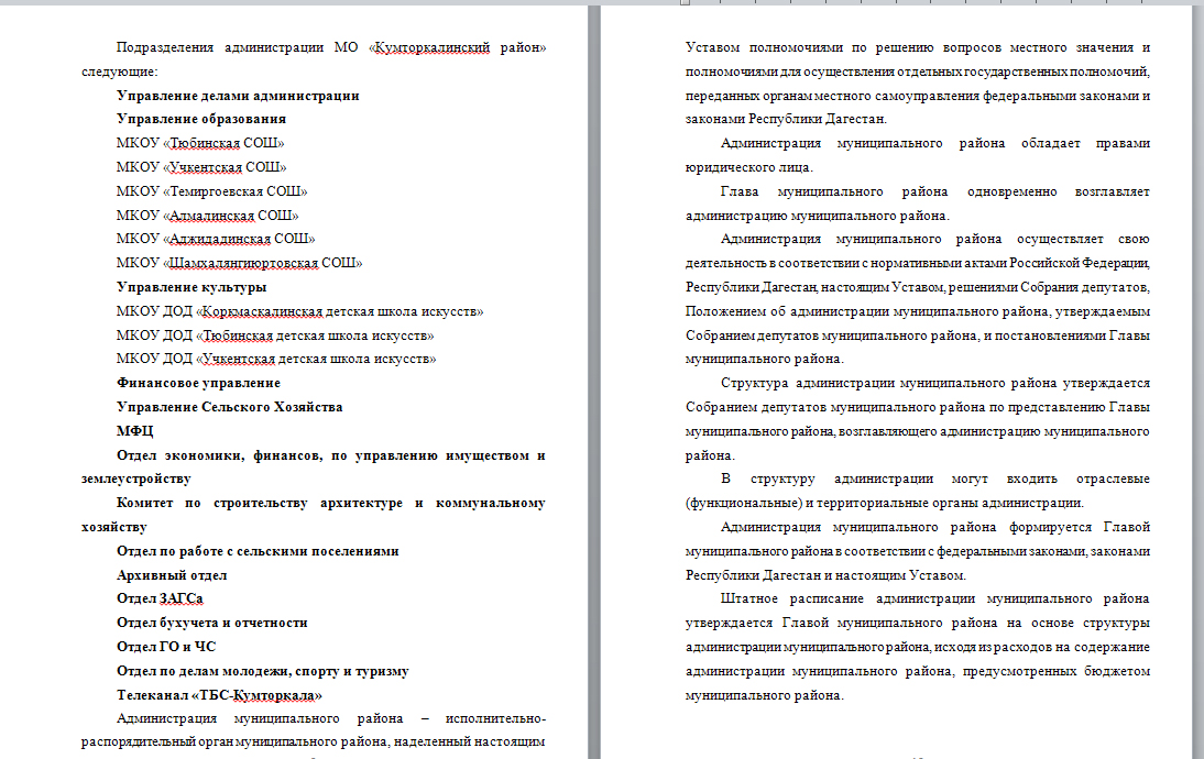Отчет по практике Администрация МО Кумторкалинского района Скриншот отчета